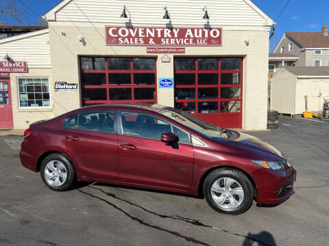 2013 Honda Civic for sale at COVENTRY AUTO SALES in Coventry CT