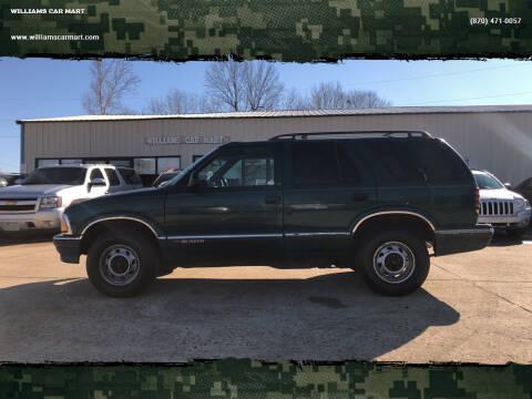 1997 Chevrolet Blazer for sale at WILLIAMS CAR MART in Gassville AR
