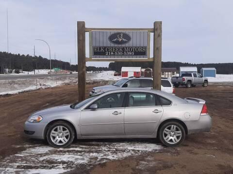 2008 Chevrolet Impala for sale at Elk Creek Motors LLC in Park Rapids MN