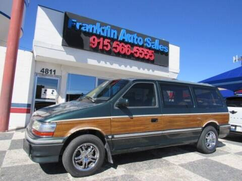 1993 Chrysler Town and Country for sale at Franklin Auto Sales in El Paso TX
