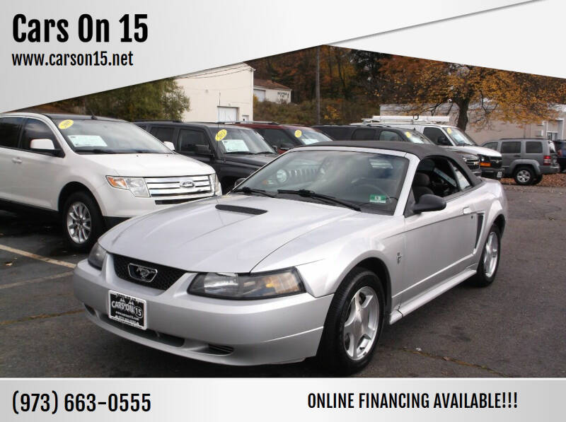 2001 Ford Mustang for sale at Cars On 15 in Lake Hopatcong NJ