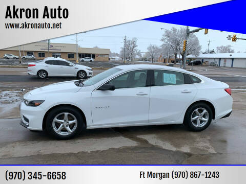 2016 Chevrolet Malibu for sale at Akron Auto - Fort Morgan in Fort Morgan CO