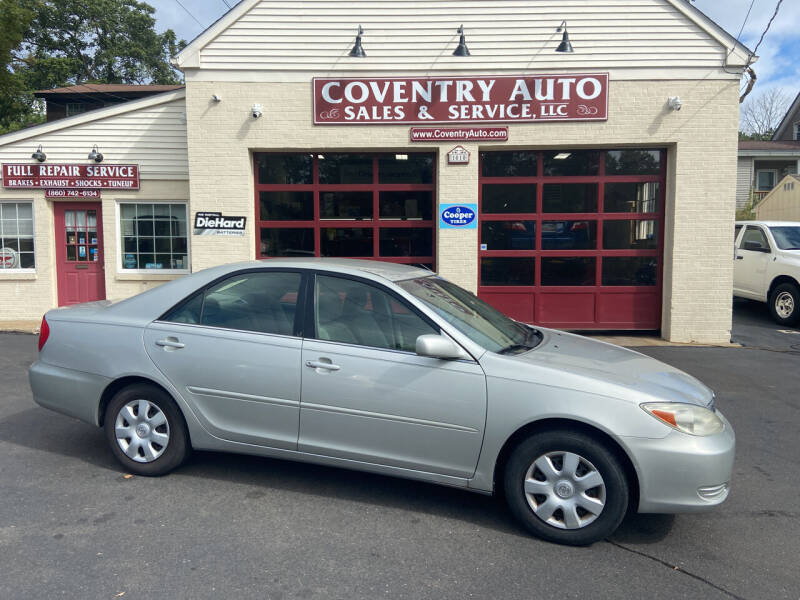 2003 Toyota Camry for sale at COVENTRY AUTO SALES in Coventry CT