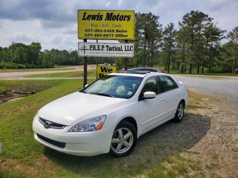 2005 Honda Accord for sale at Lewis Motors LLC in Deridder LA