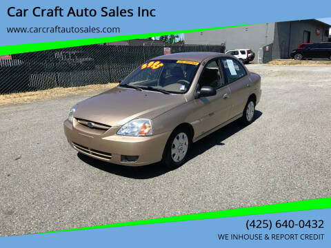 2003 Kia Rio for sale at Car Craft Auto Sales Inc in Lynnwood WA