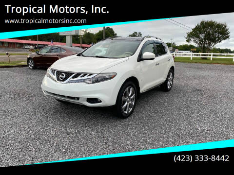 2012 Nissan Murano for sale at Tropical Motors, Inc. in Riceville TN