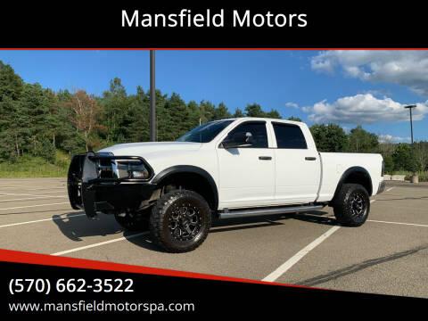 2016 RAM Ram Pickup 3500 for sale at Mansfield Motors in Mansfield PA