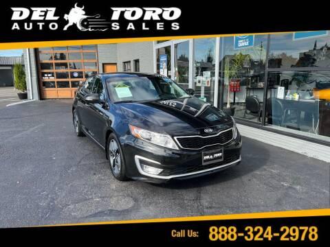 2013 Kia Optima Hybrid for sale at DEL TORO AUTO SALES in Auburn WA