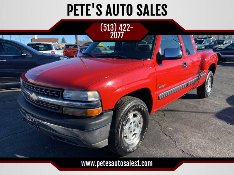 2000 Chevrolet Silverado 1500 for sale at PETE'S AUTO SALES LLC - Middletown in Middletown OH