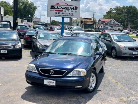 2000 Mercury Sable for sale at Supreme Auto Sales in Chesapeake VA