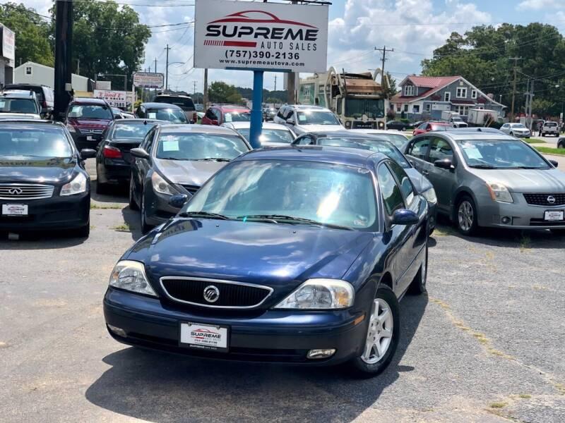 2000 Mercury Sable for sale at Supreme Auto Sales in Chesapeake VA