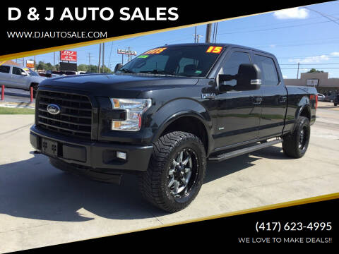 2015 Ford F-150 for sale at D & J AUTO SALES in Joplin MO