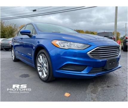 2017 Ford Fusion Hybrid for sale at RS Motors in Falconer NY
