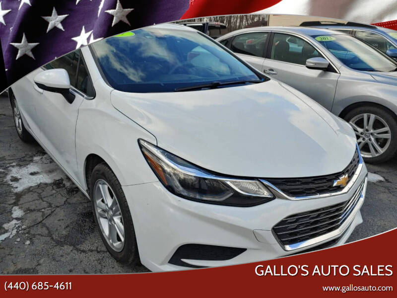 2017 Chevrolet Cruze for sale at Gallo's Auto Sales in North Bloomfield OH