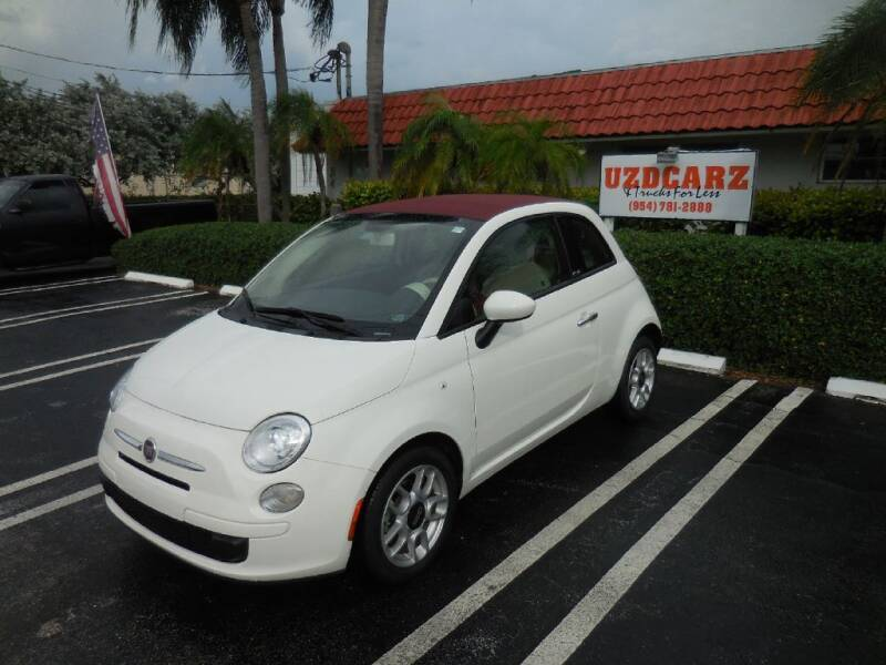 2012 FIAT 500c for sale at Uzdcarz Inc. in Pompano Beach FL