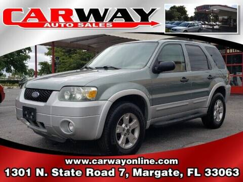 2007 Ford Escape for sale at CARWAY Auto Sales in Margate FL