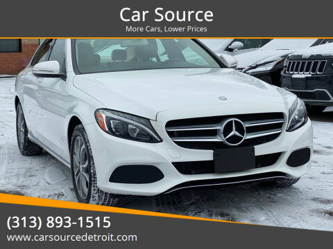 2015 Mercedes-Benz C-Class for sale at Car Source in Detroit MI