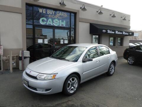 2003 Saturn Ion for sale at Wilson-Maturo Motors in New Haven Ct CT