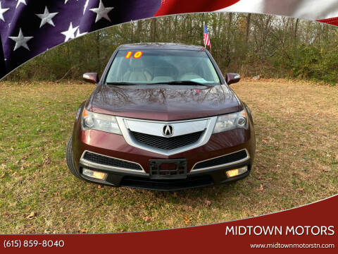 2010 Acura MDX for sale at Midtown Motors in Greenbrier TN