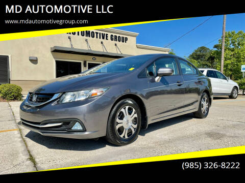 2015 Honda Civic for sale at MD AUTOMOTIVE LLC in Slidell LA