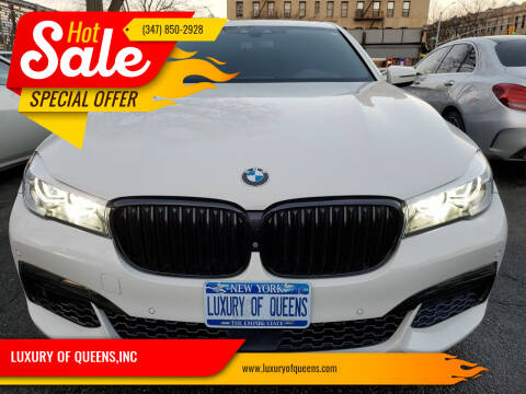 2017 BMW 7 Series for sale at LUXURY OF QUEENS,INC in Long Island City NY