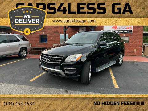 2012 Mercedes-Benz M-Class for sale at Cars4Less GA in Alpharetta GA