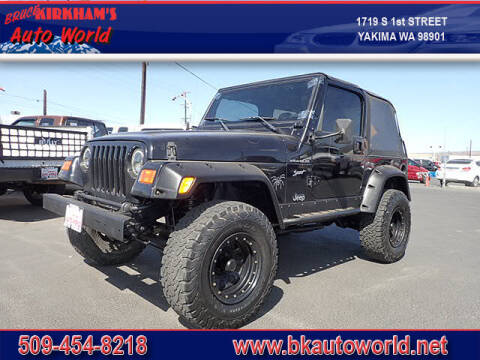 2002 Jeep Wrangler for sale at Bruce Kirkham Auto World in Yakima WA
