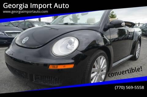 2010 Volkswagen New Beetle Convertible for sale at Georgia Import Auto in Alpharetta GA