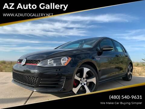 2015 Volkswagen Golf GTI for sale at AZ Auto Gallery in Mesa AZ