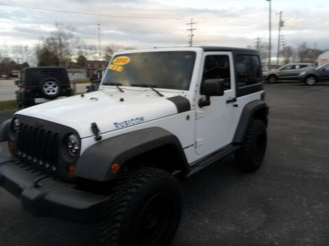 2012 Jeep Wrangler for sale at CARSON MOTORS in Cloverdale IN