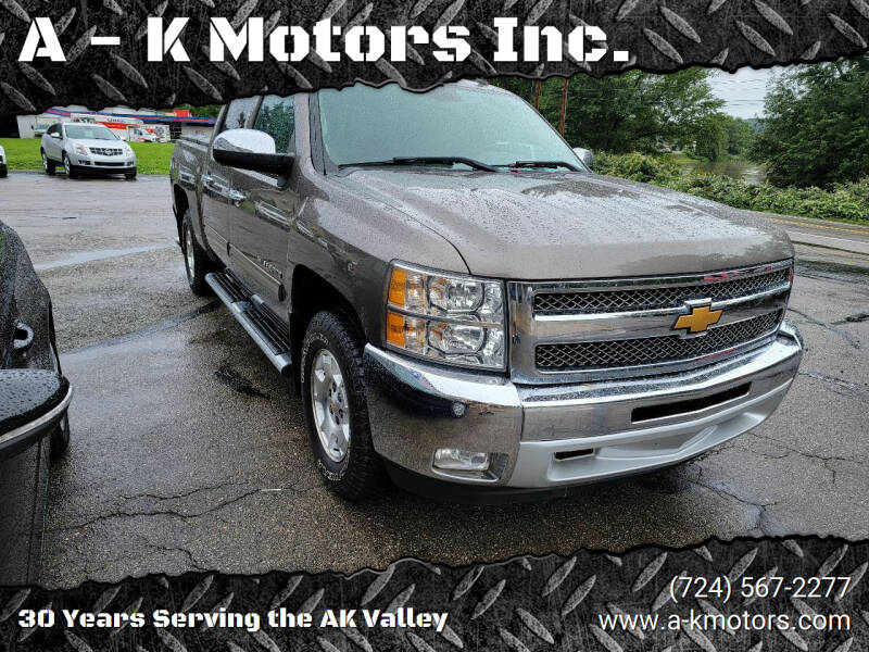 2013 Chevrolet Silverado 1500 for sale at A - K Motors Inc. in Vandergrift PA
