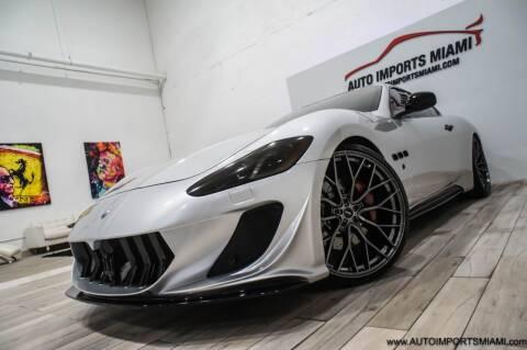 2015 Maserati GranTurismo for sale at AUTO IMPORTS MIAMI in Fort Lauderdale FL