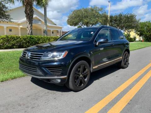 2017 Volkswagen Touareg for sale at GTR Motors in Davie FL