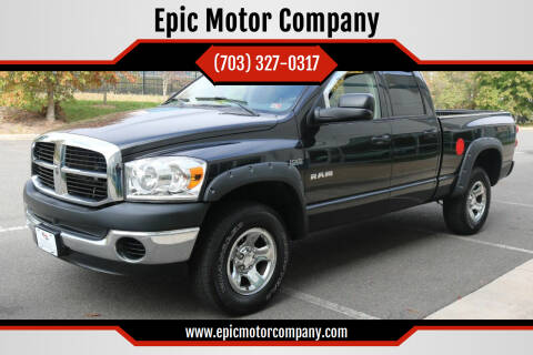 2008 Dodge Ram Pickup 1500 for sale at Epic Motor Company in Chantilly VA