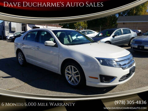 2011 Ford Fusion for sale at Dave Ducharme's Auto Sales in Lowell MA