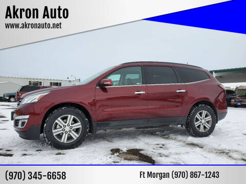 2016 Chevrolet Traverse for sale at Akron Auto in Akron CO