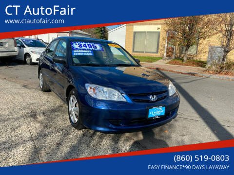 2004 Honda Civic for sale at CT AutoFair in West Hartford CT