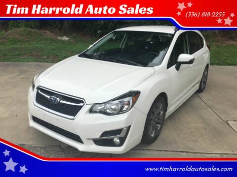 2015 Subaru Impreza for sale at Tim Harrold Auto Sales in Wilkesboro NC