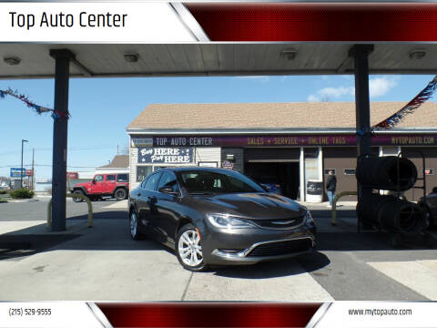 2016 Chrysler 200 for sale at Top Auto Center in Quakertown PA