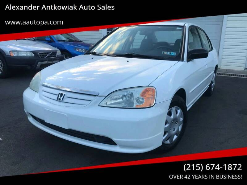 2002 Honda Civic for sale at Alexander Antkowiak Auto Sales in Hatboro PA
