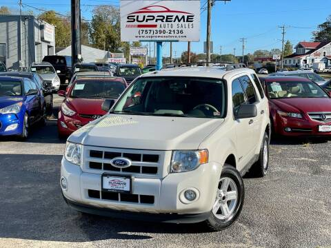 2009 Ford Escape Hybrid for sale at Supreme Auto Sales in Chesapeake VA