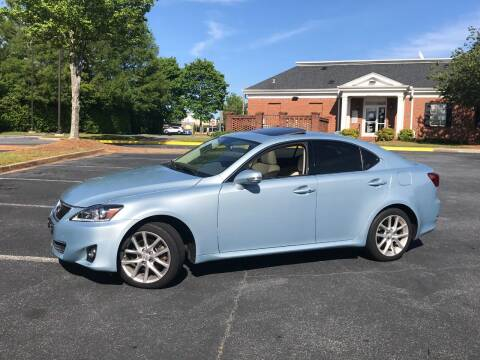 2012 Lexus IS 250 for sale at SMZ Auto Import in Roswell GA