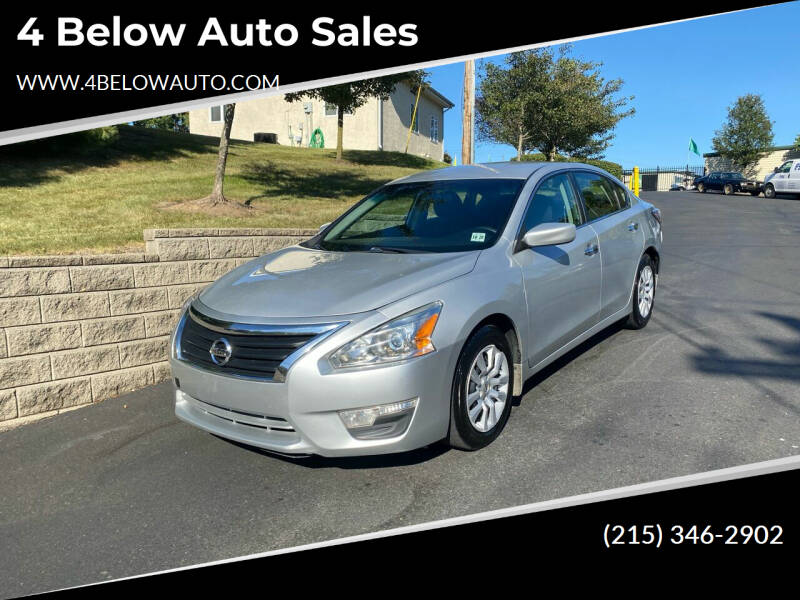 2015 Nissan Altima for sale at 4 Below Auto Sales in Willow Grove PA