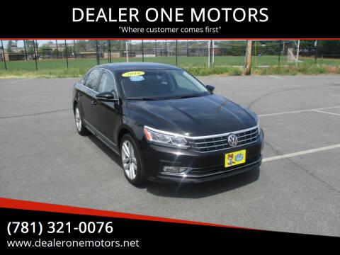 2016 Volkswagen Passat for sale at DEALER ONE MOTORS in Malden MA