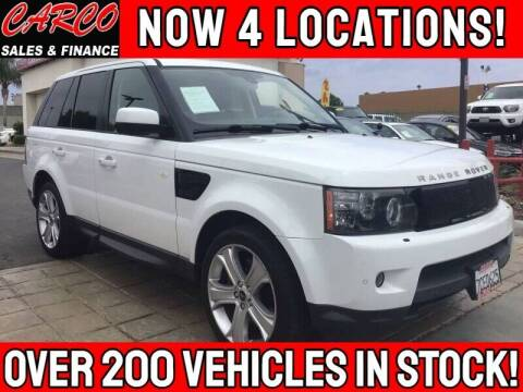 2013 Land Rover Range Rover Sport for sale at CARCO SALES & FINANCE in Chula Vista CA
