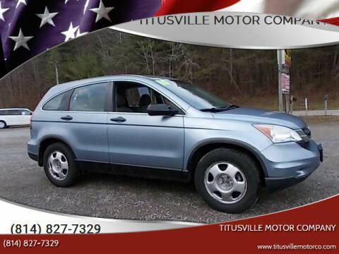 2010 Honda CR-V for sale at Titusville Motor Company in Titusville PA