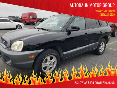 2004 Hyundai Santa Fe for sale at Autobahn Motor Group in Willow Grove PA