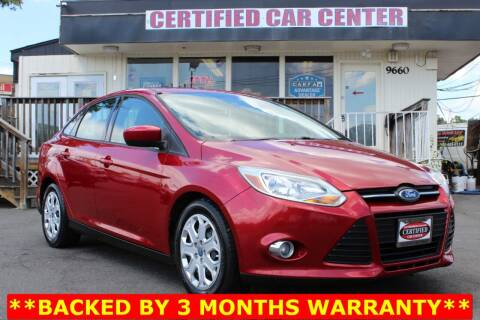 2012 Ford Focus for sale at CERTIFIED CAR CENTER in Fairfax VA