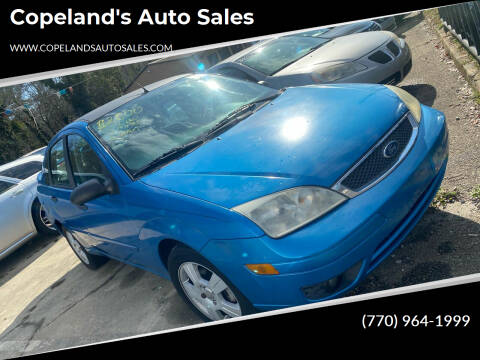 2007 Ford Focus for sale at Copeland's Auto Sales in Union City GA