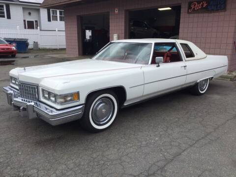 1976 Cadillac DeVille for sale at Pat's Auto Sales, Inc. in West Springfield MA